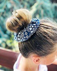 Ozdoby do vlasov - Bavlnená elastická gumička scrunchie Slovakia - 11027665_