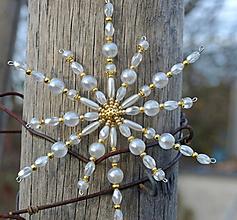 Dekorácie - Vianočná ozdoba hviezdička - 11026176_