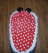 Textil - Hniezdo pre bábätko červeno čierne - 11028402_