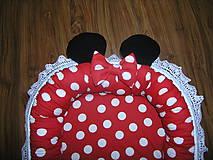 Textil - Hniezdo pre bábätko červeno čierne - 11028403_