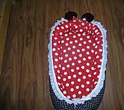 Textil - Hniezdo pre bábätko červeno čierne - 11028404_