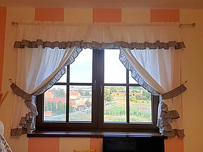 Úžitkový textil - Provence Sandra čierna (300 x 150 cm  - Čierna) - 11027009_