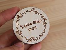 Darčeky pre svadobčanov - Výrezy/magnetky pre svadobčanov venček II - 11030219_