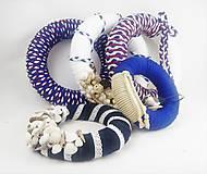 Dekorácie - AKCIA - Set 5 dekoratívnych recy vencov v námorníckom štýle - 11029900_