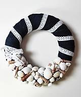 Dekorácie - AKCIA - Set 5 dekoratívnych recy vencov v námorníckom štýle - 11029914_