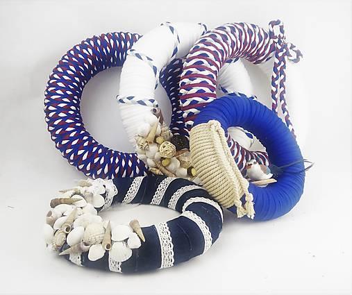 AKCIA - Set 5 dekoratívnych recy vencov v námorníckom štýle