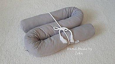 Úžitkový textil - Had - valec do VEĽKEJ POSTELE / 200x40cm/  - vafle alebo minky - 11031830_