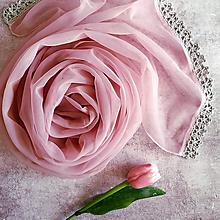 Šály - Popel z růží - vintage šál s čipkou - 11030200_