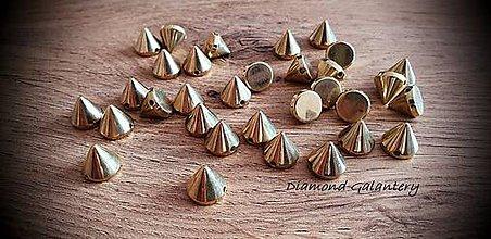 Korálky - Ostne 11 mm (Zlatá) - 11029035_