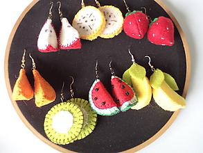 Náušnice - Ovocné náušnice - záhradná zmes (kombinácia podľa vlastného výberu) - 11029085_