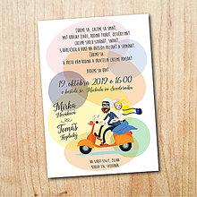 Papiernictvo - Svadobné oznámenie - Motorka - 11029638_