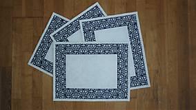 Úžitkový textil - Prestieranie modrotlačové - 11031346_