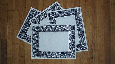 Úžitkový textil - Prestieranie modrotlačové (biela obruba) - 11031346_