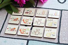 Hračky - Drevené pexeso Zvieratká v lese - 11029618_