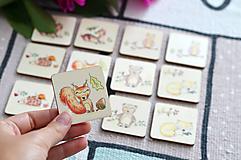 Hračky - Drevené pexeso Zvieratká v lese - 11029619_