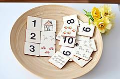 Hračky - Drevené pexeso Čísla a množstvá - 11029630_