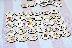 Hračky - Drevené pexeso učíme sa ABECEDU = 52 ks varianta aj na prišívanie a skladanie slov - 11029724_