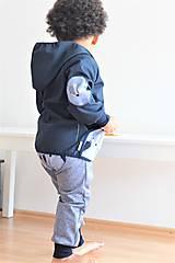 """Detské oblečenie - Softshellka """"pán jazvec"""" posledný kus, v. 110-116 - 11030501_"""