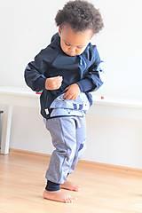 """Detské oblečenie - Softshellka """"pán jazvec"""" posledný kus, v. 110-116 - 11030503_"""
