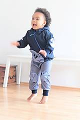 """Detské oblečenie - Softshellka """"pán jazvec"""" posledný kus, v. 110-116 - 11030506_"""