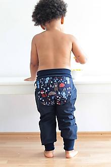 """Detské oblečenie - Softshellky """"lesné zvieratká"""" - 11030401_"""