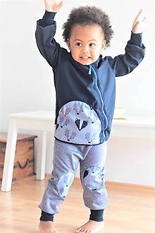 """Detské oblečenie - Softshellka """"pán jazvec"""" - 11030505_"""