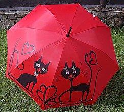 """Iné doplnky - Dáždnik """"Mačky"""" (Červená) - 11031839_"""