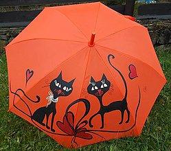 """Iné doplnky - Dáždnik """"Mačky 3"""" (Oranžová) - 11031858_"""