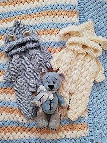 Detské oblečenie - modrý overal pre bábätko - 11029200_