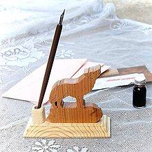 Dekorácie - Luxusný stojan na perá – Vlk - 11029435_