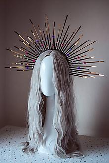 """Ozdoby do vlasov - Zlatá čelenka """"Halo crown"""" s kameňmi - 11030435_"""