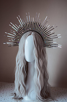 """Ozdoby do vlasov - Strieborná čelenka """"Halo crown"""" s kameňmi - 11030480_"""