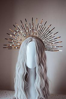 """Ozdoby do vlasov - Zlatá čelenka """"Mermaid Halo crown"""" s mušličkami - 11030517_"""