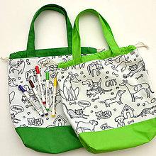 Detské tašky - Tvoritaška na výtvarnú zelená - 11030728_