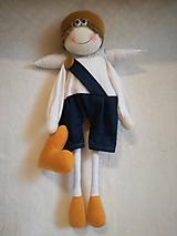 Dekorácie - Veľký anjelik chlapček - 11029063_