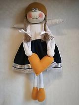 Dekorácie - Veľký anjelik dievčatko - 11029066_