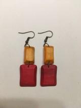 Náušnice - Drevené náušnice - 11030022_