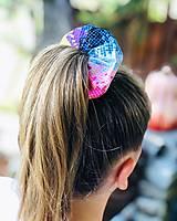 Ozdoby do vlasov - Elastická bavlnená gumička scrunchie color Grid - 11031467_