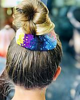Ozdoby do vlasov - Elastická bavlnená gumička scrunchie color Grid - 11031478_