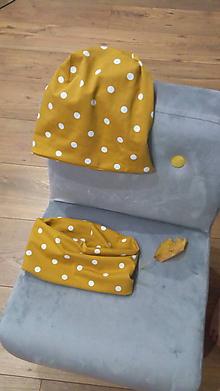 Detské čiapky - Jesenná čiapka a nákrčník - 11031209_