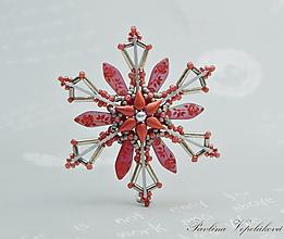 Dekorácie - Vianočná ozdoba hviezdička - 11029841_