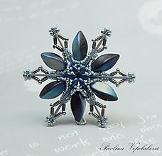 Dekorácie - Vianočná ozdoba hviezdička Modrá - 11030662_