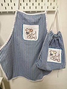 Textil - Detská zástera s vrecúškom z recyklovaneho textilu - 11029685_