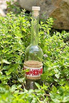 Drobnosti - Fľaška s výšivkou - 11030158_