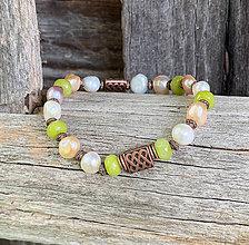 Náramky - Riečne perly a jadeit - náramok - 11031410_