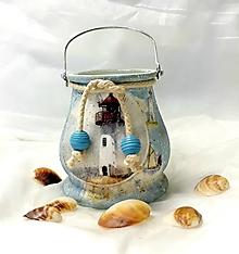 Svietidlá a sviečky - námornícky lampášik - 11029596_