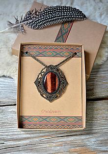 Náhrdelníky - Náhrdelník býčie oko •Šamanka• - 11030128_