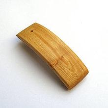 Ozdoby do vlasov - Drevená spona do vlasov - stredná cédrová - 11031958_