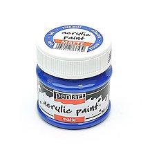 Farby-laky - Akrylová farba, matná, 50 ml, Pentart (modrá) - 11032820_