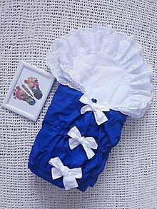 Textil - Kráľovská modrá perinka s dvojvolánikom - 11035129_